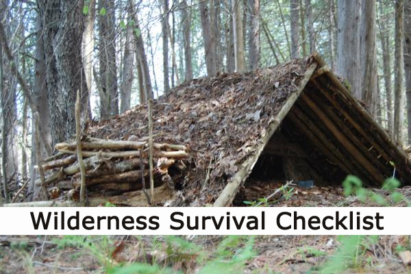wilderness survival gear checklist and survivial gear and tools