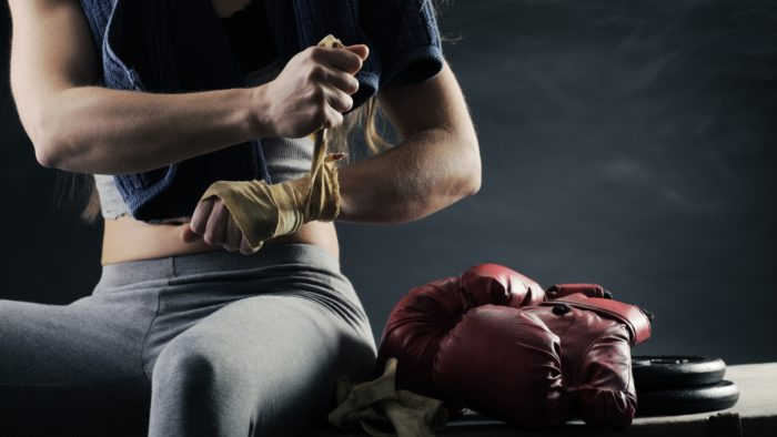 Everlast Girl Boxing Bags - Getting Ready for Punching
